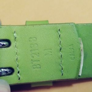 Fossil Accessories - Women's Fossil Belt Green Leather NWOT Size  Mediu